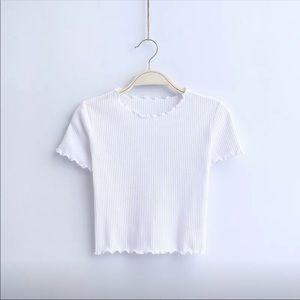 White Short Sleeve Top